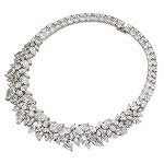 Rhodium-plated Sterling Silver CZ Necklace