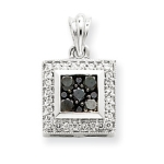 14k Gold Black Diamond Pendant