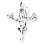 Sterling Silver Cheerleader