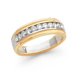 14k Gold Mens Diamond Ring