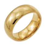 Mens Tungsten Ring Gold Plated